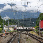 Schweizer-Eisenbahnen - Bahnhof Domat/Ems