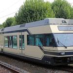 Juni 2019: Be 2/6 mit der Nummer 7002 der MOB im Bahnhof Gossau der AB. (Aufnahme vom September 2018.)