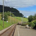 Schweizer-Eisenbahnen - Bahnhof Faulensee