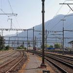 Schweizer-Eisenbahnen - Bahnhof Martigny