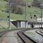 Schweizer-Eisenbahnen Bahnhof Lavin