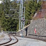 Schweizer-Eisenbahnen - Bahnhof Langwies