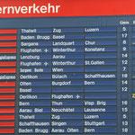 November 2015: Alte Anzeigetafel im Zürcher HB (Aufnahme vom Oktober 2015).