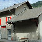 Schweizer-Eisenbahnen - Bahnhof Lax