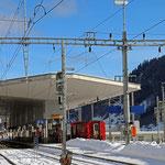 Schweizer-Eisenbahnen Bahnhof Disentis
