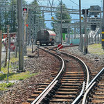 Schweizer-Eisenbahnen - Bahnhof Spinas