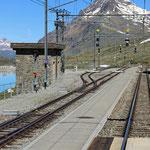 Schweizer-Eisenbahnen - Bahnhof Ospizio Bernina