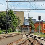 Schweizer-Eisenbahnen Bahnhof Les Plantaz