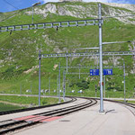 Schweizer-Eisenbahnen Bahnhof Oberalppass