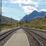 Schweizer-Eisenbahnen - Bahnhof Bernina Lagalb