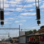Schweizer-Eisenbahnen - Bahnhof Herisau