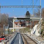 Schweizer-Eisenbahnen Bahnhof Krummenau