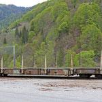 Schweizer-Eisenbahnen RhB Güterwagen Sp-w - 8286