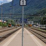 Schweizer-Eisenbahnen - Bahnhof Cadenazzo