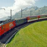 April 2020: Glacier Express unterwegs Richtung Oberalppass. (Aufnahme vom September 2005.)