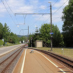Schweizer-Eisenbahnen - Bahnhof Hirschlang