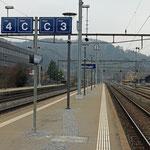 Schweizer-Eisenbahnen - Bahnhof Wettingen
