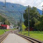 Schweizer-Eisenbahnen - Bahnhof Bitsch