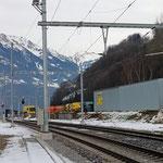 Schweizer-Eisenbahnen - Bahnhof Näfels-Mollis