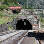 Schweizer-Eisenbahnen - Bahnhof Wassen