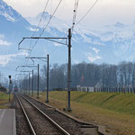 Schweizer-Eisenbahnen - Bahnhof Schänis