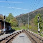 Schweizer-Eisenbahnen - Bahnhof Castrisch