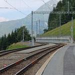Schweizer-Eisenbahnen - Bahnhof Mompé Tujetsch