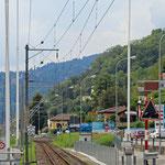Schweizer-Eisenbahnen - Bahnhof Caslano