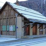 Schweizer Eisenbahnen - Bahnhof Zernez
