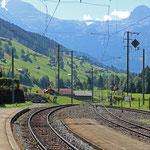 Schweizer-Eisenbahnen - Bahnhof Matten