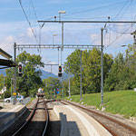 Schweizer-Eisenbahnen - Bahnhof Crémines