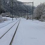 Schweizer-Eisenbahnen Bahnhof Waltensburg / Vuorz