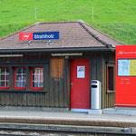 Schweizer-Eisenbahnen Bahnhof Strahlholz