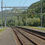 Schweizer-Eisenbahnen - Bahnhof Soyhières