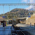 Schweizer-Eisenbahnen - Bahnhof Tiefencastel