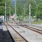 Schweizer-Eisenbahnen - Bahnhof Interlaken Ost
