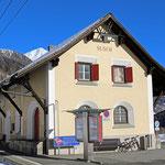 Schweizer-Eisenbahnen Bahnhof Susch
