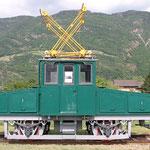 Dezember 2017: Historische Lokomotive der ehemaligen Lana - Meran Bahn (Aufnahme vom Mai 2014).