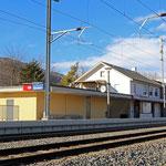 Schweizer-Eisenbahnen Bahnhof Sevelen