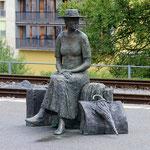 Schweizer-Eisenbahnen - Bahnhof Thusis