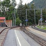 Schweizer-Eisenbahnen - Bahnhof Celerina