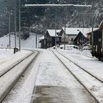 Schweizer-Eisenbahnen - Bahnhof Tavanasa-Breil/Brigels