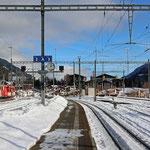 Schweizer-Eisenbahnen - Bahnhof Disentis