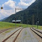 Schweizer-Eisenbahnen - Bahnhof Rabius-Surrein