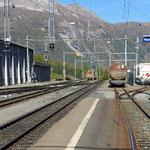 Schweizer-Eisenbahnen - Bahnhof Pontresina