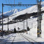 Schweizer- Eisenbahnen Bahnhof S-chanf