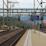 Schweizer-Eisenbahnen - Bahnhof Lenzburg