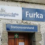 Schweizer-Eisenbahnen - Bahnhof Furka