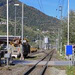 Schweizer-Eisenbahnen - Bahnhof Landquart Ried