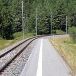 Schweizer-Eisenbahnen - Bahnhof Punt Muragl Staz